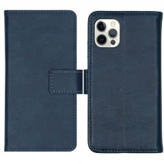 iMoshion Luxe Booktype iPhone 12 (Pro) - Donkerblauw
