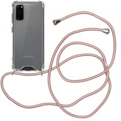 iMoshion Backcover met koord Samsung Galaxy S20 - Rosé Goud
