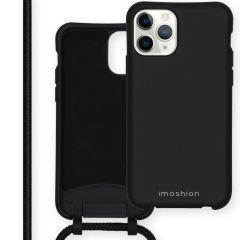 iMoshion Color Backcover met afneembaar koord iPhone 11 Pro - Zwart