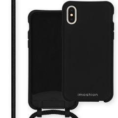 iMoshion Color Backcover met afneembaar koord iPhone Xs / X - Zwart