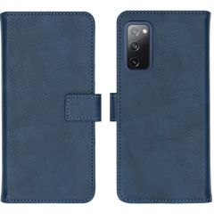 iMoshion Luxe Booktype Samsung Galaxy S20 FE - Donkerblauw