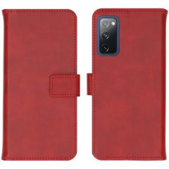 iMoshion Luxe Booktype Samsung Galaxy S20 FE - Rood