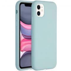 Accezz Liquid Silicone Backcover iPhone 11 - Sky Blue