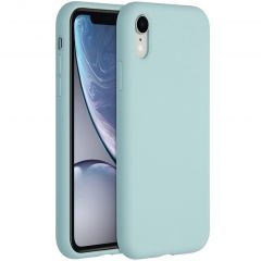 Accezz Liquid Silicone Backcover iPhone Xr - Sky Blue