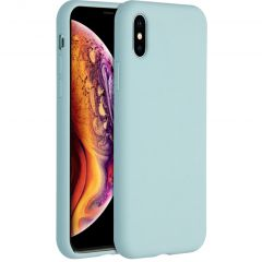 Accezz Liquid Silicone Backcover iPhone Xs / X - Sky Blue