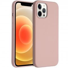 Accezz Liquid Silicone Backcover iPhone 12 Pro Max - Roze