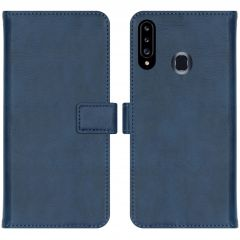 iMoshion Luxe Booktype Samsung Galaxy A20s - Donkerblauw