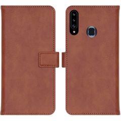 iMoshion Luxe Booktype Samsung Galaxy A20s - Bruin