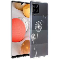 iMoshion Design hoesje Samsung Galaxy A42 - Paardenbloem - Wit