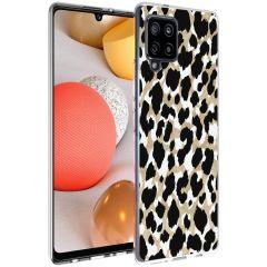iMoshion Design hoesje Samsung Galaxy A42 - Luipaard - Goud / Zwart