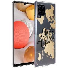 iMoshion Design hoesje Samsung Galaxy A42 - Let's Go Travel - Zwart