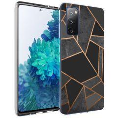 iMoshion Design hoesje Galaxy S20 FE - Grafisch Koper - Zwart / Goud
