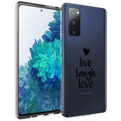 iMoshion Design hoesje Galaxy S20 FE - Live Laugh Love - Zwart