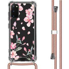 iMoshion Design hoesje met koord Samsung Galaxy S20 - Bloem - Roze