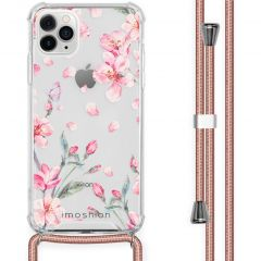 iMoshion Design hoesje met koord iPhone 11 Pro Max - Bloem - Roze