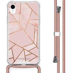 iMoshion Design hoesje met koord iPhone Xr - Grafisch Koper - Roze