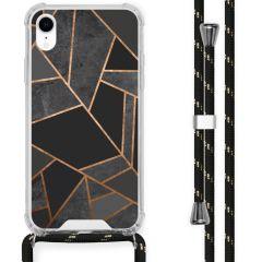 iMoshion Design hoesje met koord iPhone Xr - Grafisch Koper - Zwart