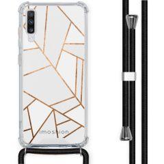 iMoshion Design hoesje met koord Samsung Galaxy A70 - Grafisch Koper