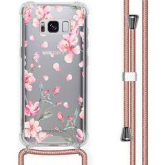 iMoshion Design hoesje met koord Samsung Galaxy S8 - Bloem - Roze