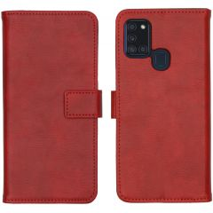 iMoshion Luxe Booktype Samsung Galaxy A21s - Rood