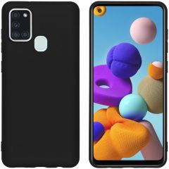 iMoshion Color Backcover Samsung Galaxy A21s - Zwart