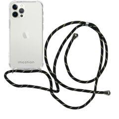 iMoshion Backcover met koord iPhone 12 Pro Max - Zwart / Goud