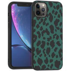 iMoshion Design hoesje iPhone 12 Pro Max - Luipaard - Groen / Zwart