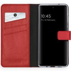 Selencia Echt Lederen Booktype Samsung Galaxy S20 FE - Rood