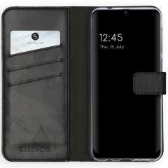 Selencia Echt Lederen Booktype Samsung Galaxy M31 - Zwart