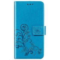 Klavertje Bloemen Booktype Samsung Galaxy S20 FE - Turquoise