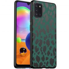 iMoshion Design hoesje Samsung Galaxy A31 - Luipaard - Groen / Zwart