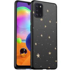 iMoshion Design hoesje Samsung Galaxy A31 - Sterren - Goud / Zwart