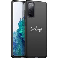 iMoshion Design hoesje Galaxy S20 FE - Fuck Off - Zwart