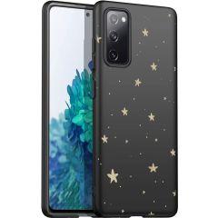 iMoshion Design hoesje Samsung Galaxy S20 FE - Sterren - Zwart / Goud