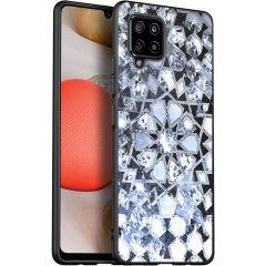 iMoshion Design hoesje Samsung Galaxy A42 - Grafisch - Zilver Bling