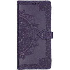 Mandala Booktype Samsung Galaxy A71 - Paars