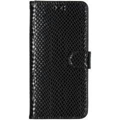Slangenprint Booktype Samsung Galaxy A51 - Zwart