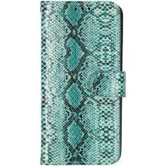 Slangenprint Booktype Samsung Galaxy S10 - Groen