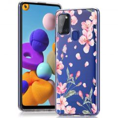 iMoshion Design hoesje Samsung Galaxy A21s - Bloem - Roze