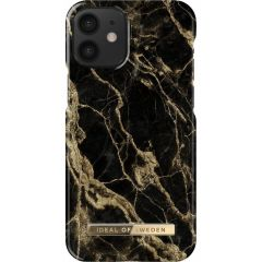 iDeal of Sweden Fashion Backcover iPhone 12 Mini - Golden Smoke Marble