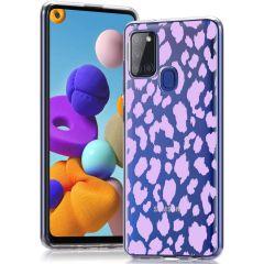 iMoshion Design hoesje Samsung Galaxy A21s - Luipaard - Paars