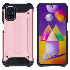 iMoshion Rugged Xtreme Backcover Samsung Galaxy M31s - Rosé Goud