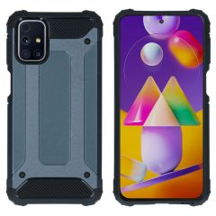 iMoshion Rugged Xtreme Backcover Samsung Galaxy M31s - Donkerblauw