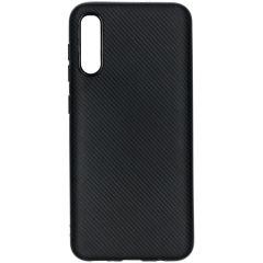 Carbon Softcase Backcover Samsung Galaxy A50 / A30s - Zwart