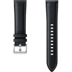 Samsung Leather Band Galaxy Watch Active 2 / Watch 3 41mm - Zwart
