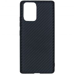 Carbon Softcase Backcover Samsung Galaxy S10 Lite - Zwart