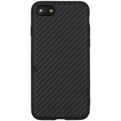Carbon Softcase Backcover iPhone SE (2020) / 8 / 7 - Zwart
