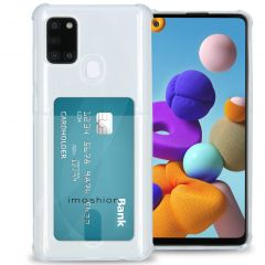 iMoshion Softcase Backcover met pashouder Galaxy A21s - Transparant