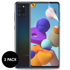 iMoshion Screenprotector Folie 3 pack Samsung Galaxy A21s