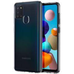 Spigen Liquid Crystal Backcover Samsung Galaxy A21s - Transparant